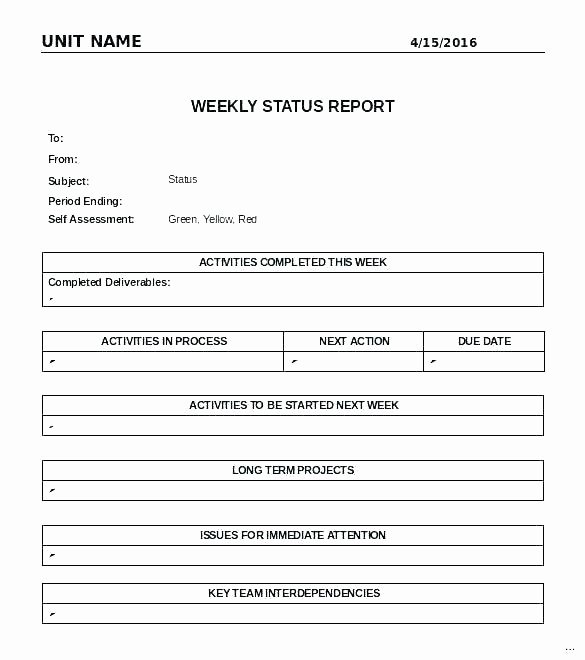 Quality assurance Reports Template Beautiful Weekly Flash Report Template New Agile Project Status