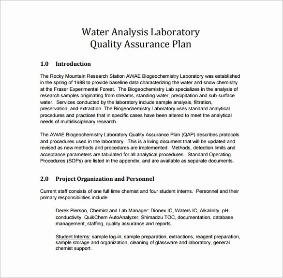 Quality assurance Reports Template Best Of 7 Quality assurance Plan Template Word Pdf Ppt