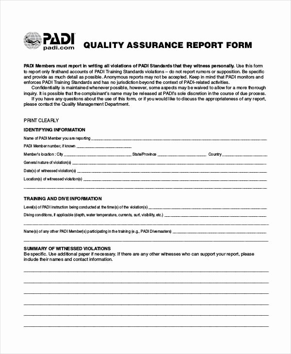 Quality assurance Reports Template Elegant 14 Quality Report Templates Pdf Word Pages Docs