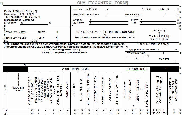 Quality Control Checklist Template Beautiful software Release Notes Checklist In Microsoft Word