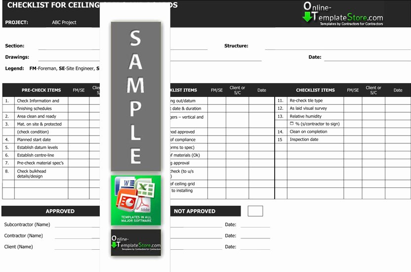 Quality Control Checklist Template Best Of Quality Control forms