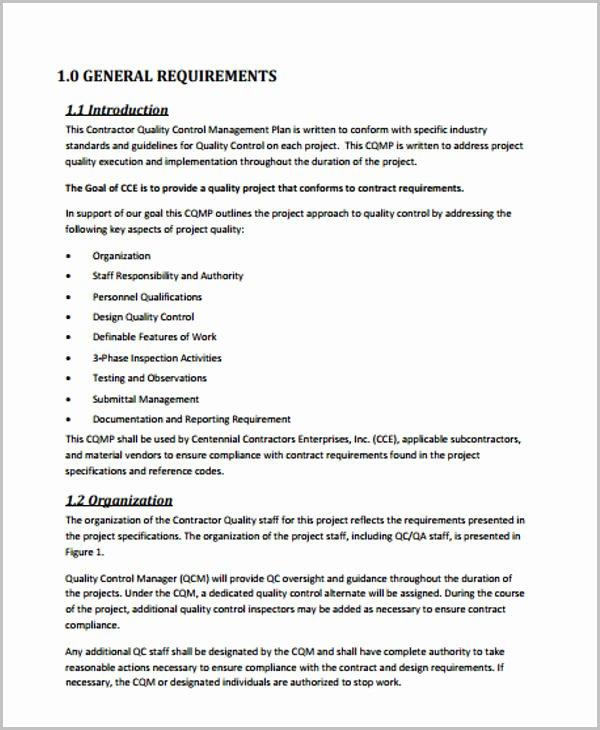 Quality Management Plan Template Beautiful 42 Management Plan Templates Pdf Word