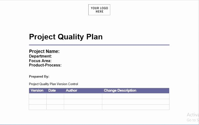 Quality Management Plan Template Best Of Project Quality Management Plan Template Engineering