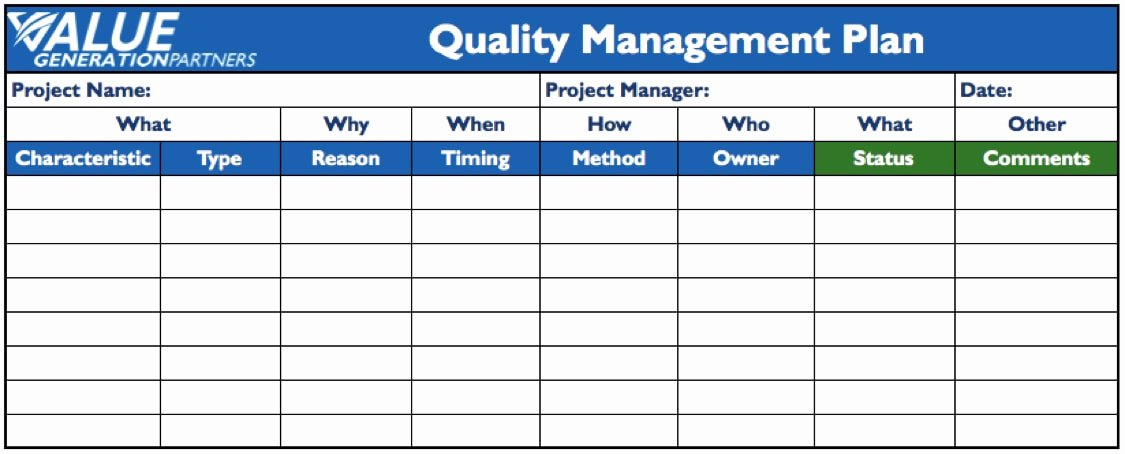 Quality Management Plan Template Elegant 11 Quality Management Plan Examples Pdf Word