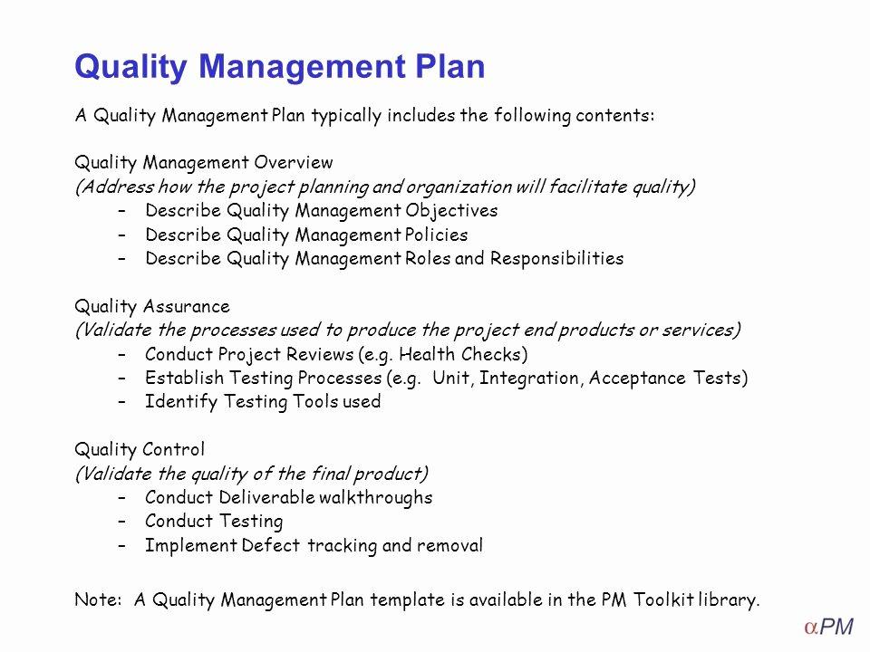 Quality Management Plan Template Inspirational How to Apply Quality Management Ppt Video Online