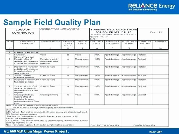 Quality Management Plan Template Unique Sample Quality Control Plan Template assurance Program