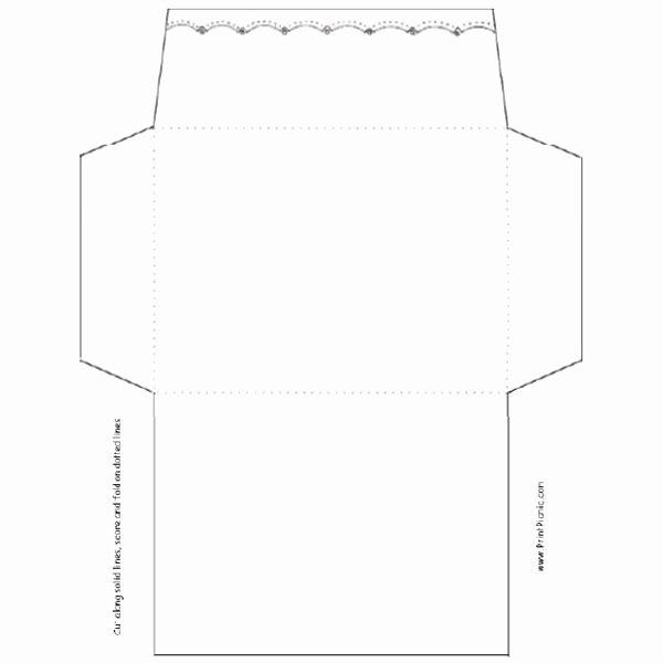 Quarter Fold Card Template Inspirational 7 Best Of Foldable Envelope Template Mini
