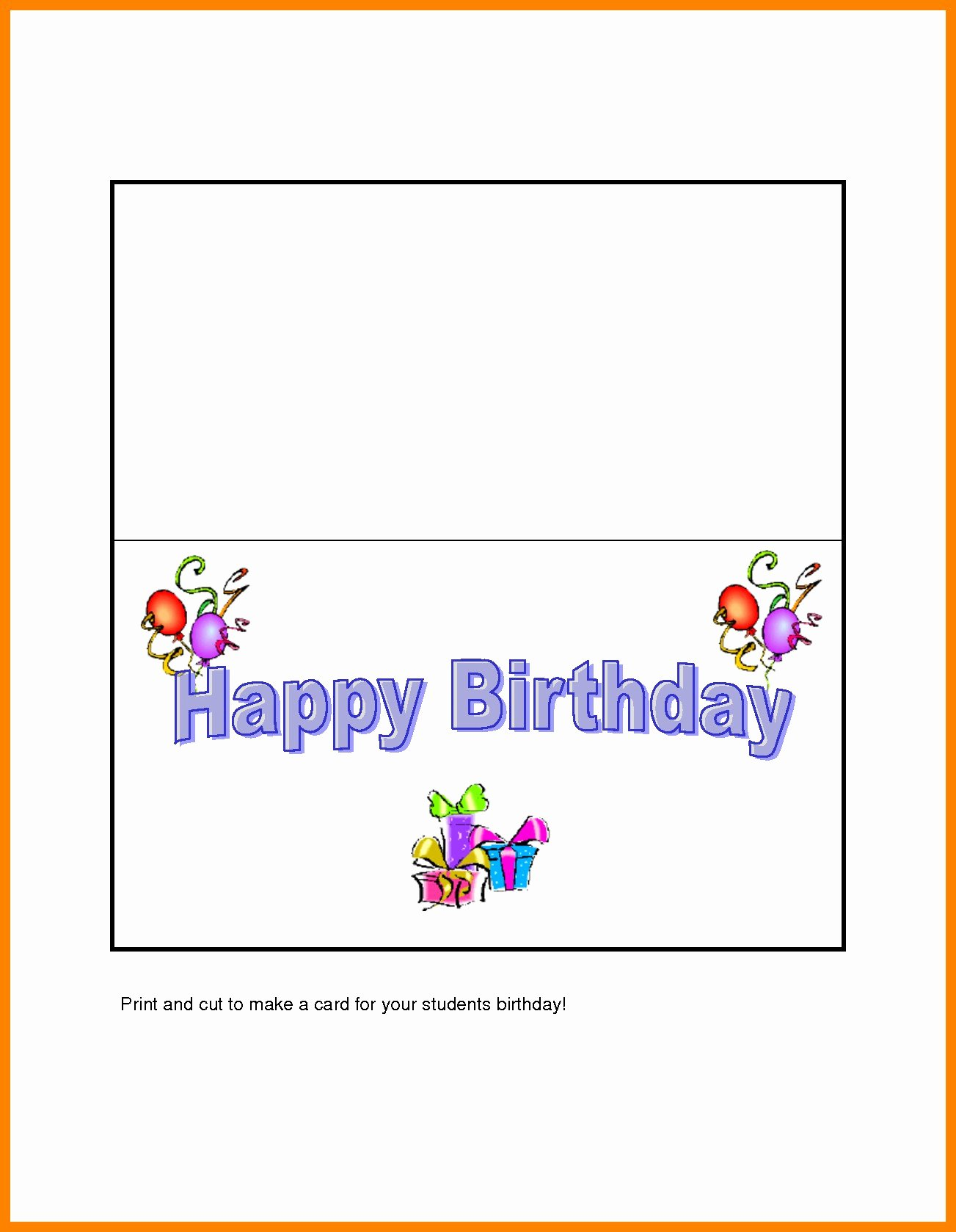 quarter fold greeting card template