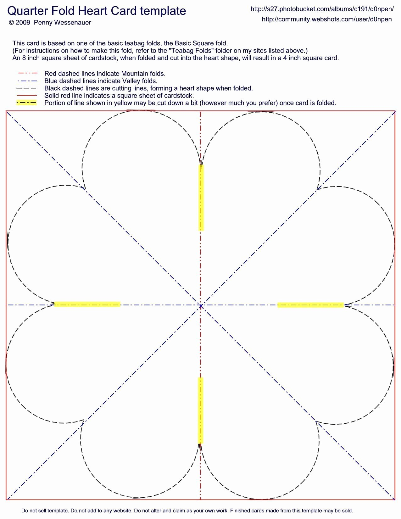 Quarter Fold Cards Template Beautiful Card Templates Quarter Fold Heart Card Image by D0npen