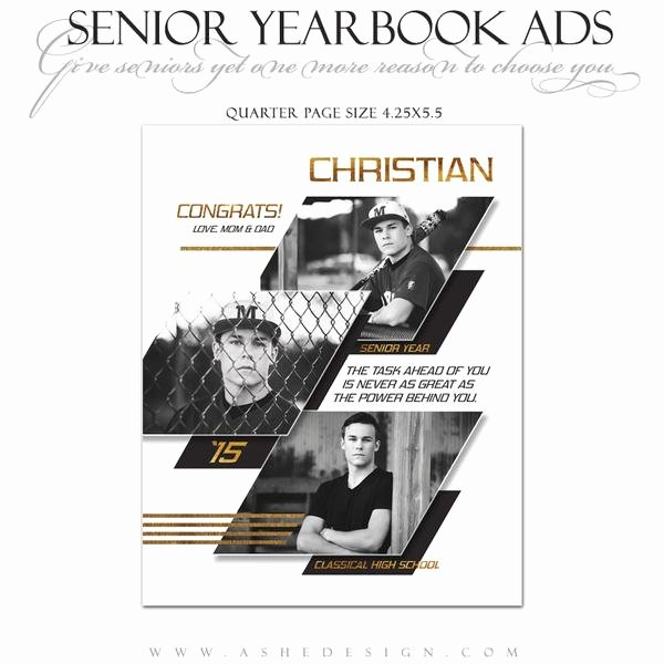 Quarter Page Ad Template Beautiful Senior Yearbook Ads for Shop