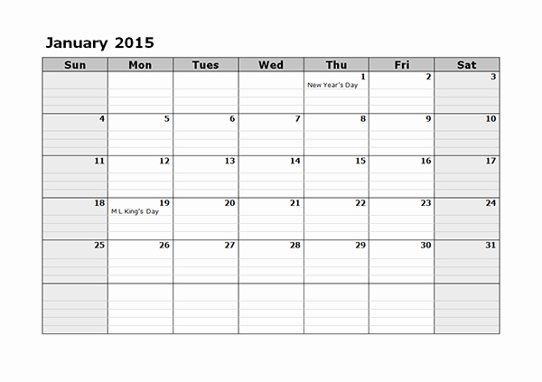 Quarterly Calendar Template 2015 Awesome 2015 Monthly Calendar Template 08 Free Printable Templates