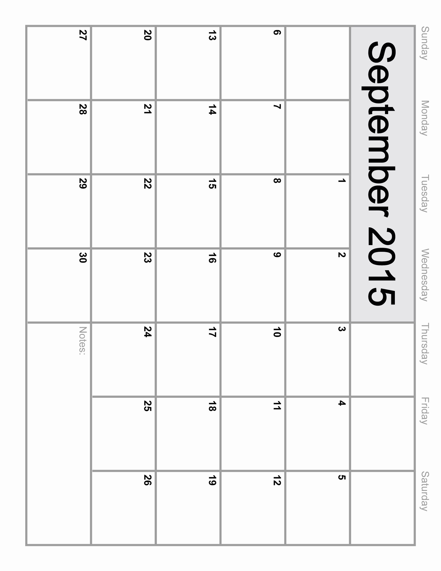 Quarterly Calendar Template 2015 Inspirational 2015 Monthly Calendar Printable – 2017 Printable Calendar