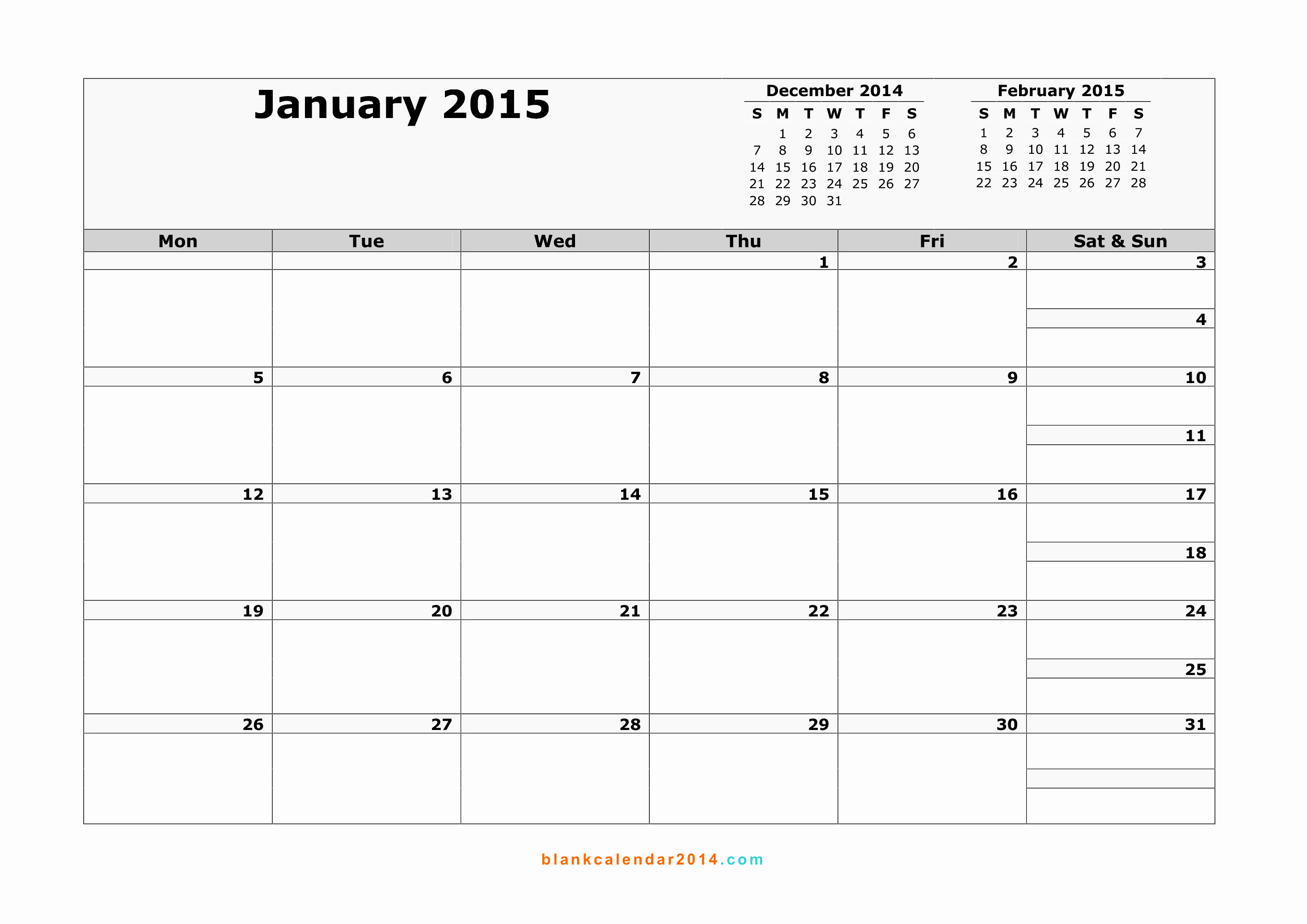 Quarterly Calendar Template 2015 Inspirational Monthly Printable Calendar 2015 – 2017 Printable Calendar