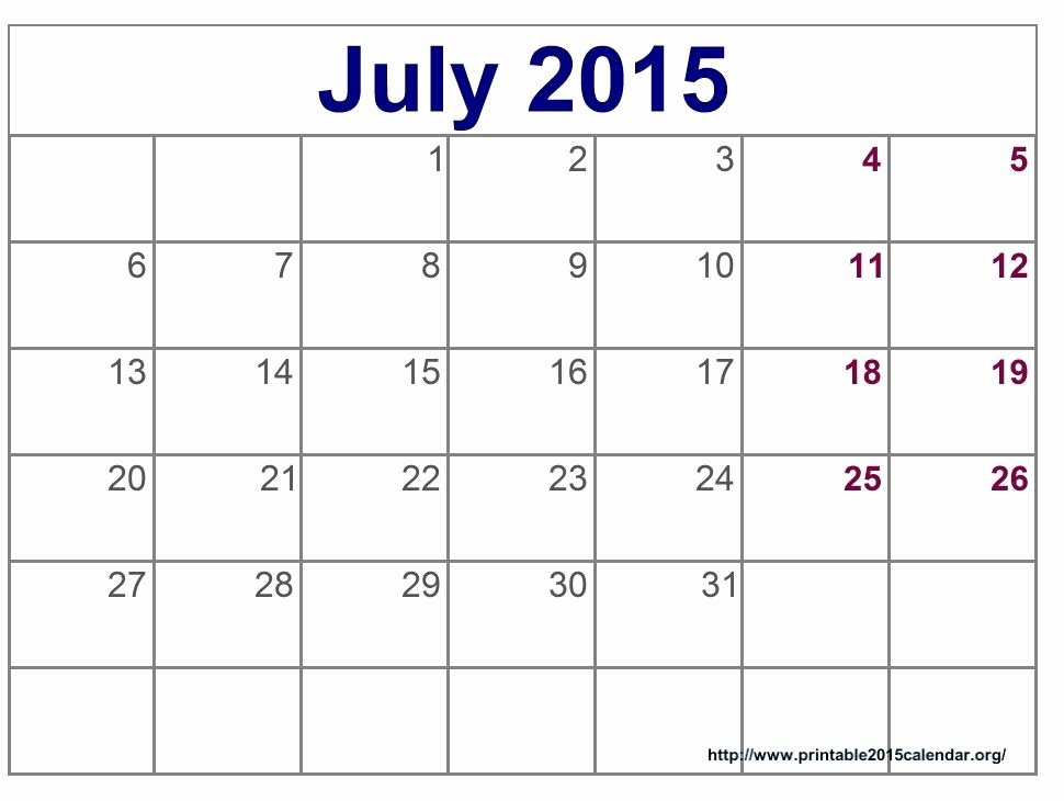 Quarterly Calendar Template 2015 Unique Blank Printable Calendar 2015
