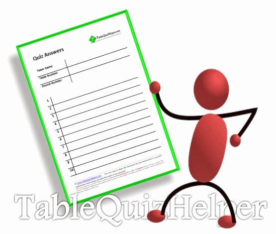 Question and Answer Template Elegant Table Quiz Questions