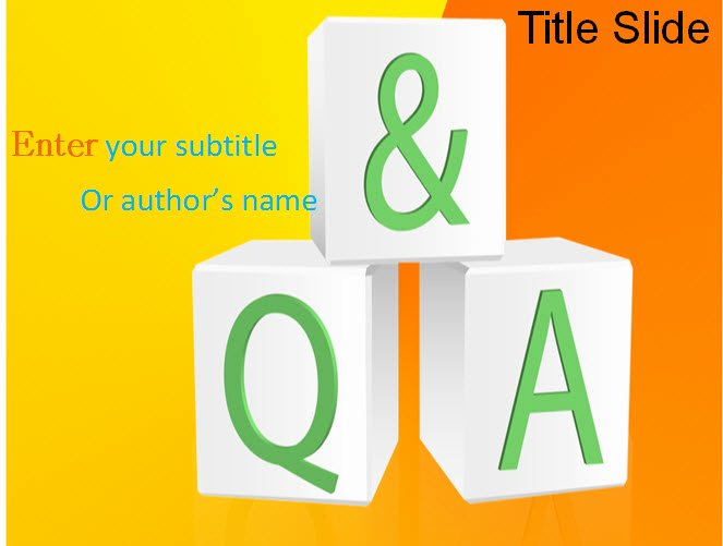 Question and Answer Template Fresh Question and Answer Ppt Template Q & A Powerpoint Template