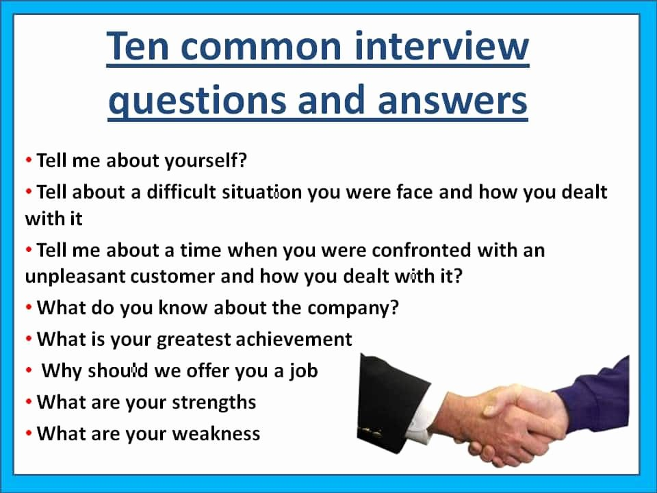 Question and Answer Template Unique 10 Of the Most Mon Interview Questions asie Personnel