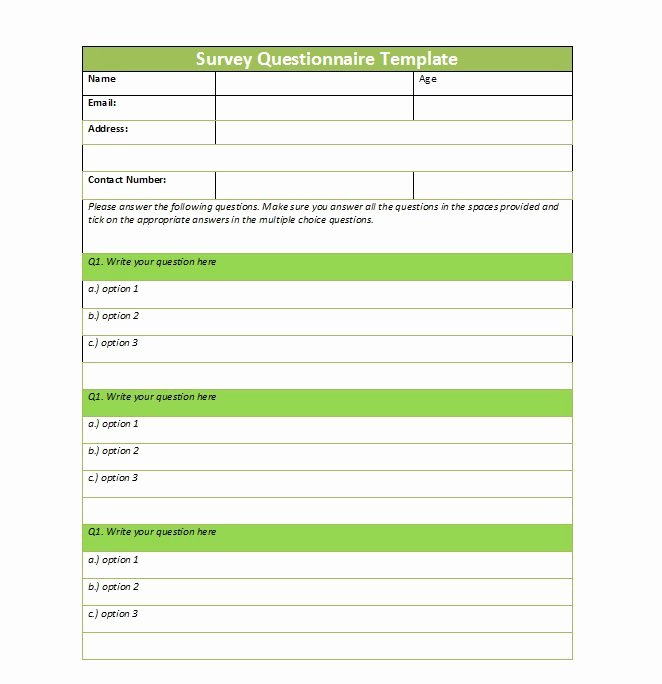 Questions and Answers Template Inspirational 33 Free Questionnaire Templates Word Free Template