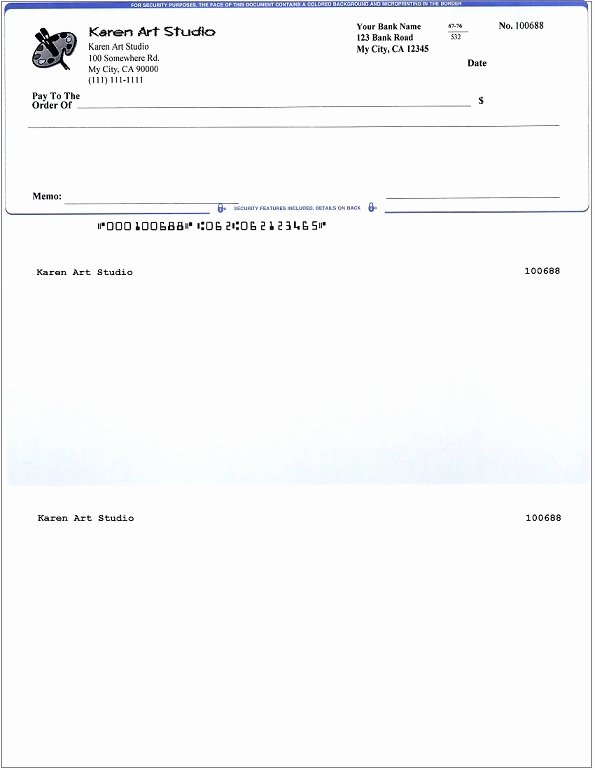 Quickbooks Check Template Word Inspirational Blank Business Check Template