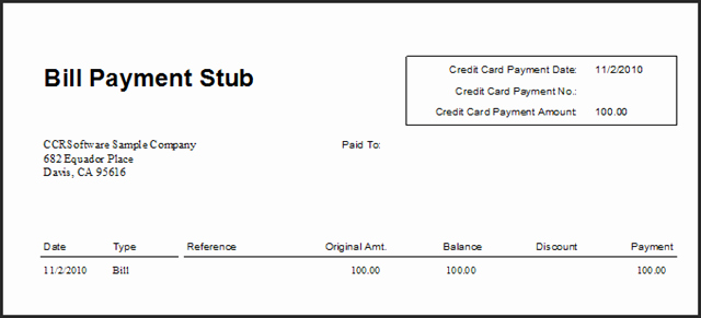 Quickbooks Check Template Word New Blank Pay Stub Template Pdf