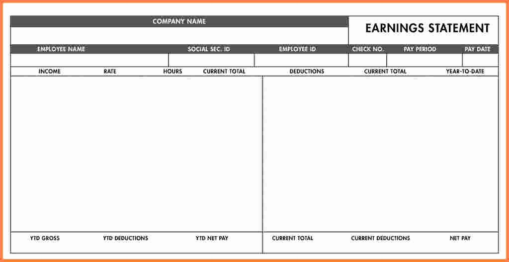 Quickbooks Pay Stub Template Inspirational Quickbooks Pay Stub Template