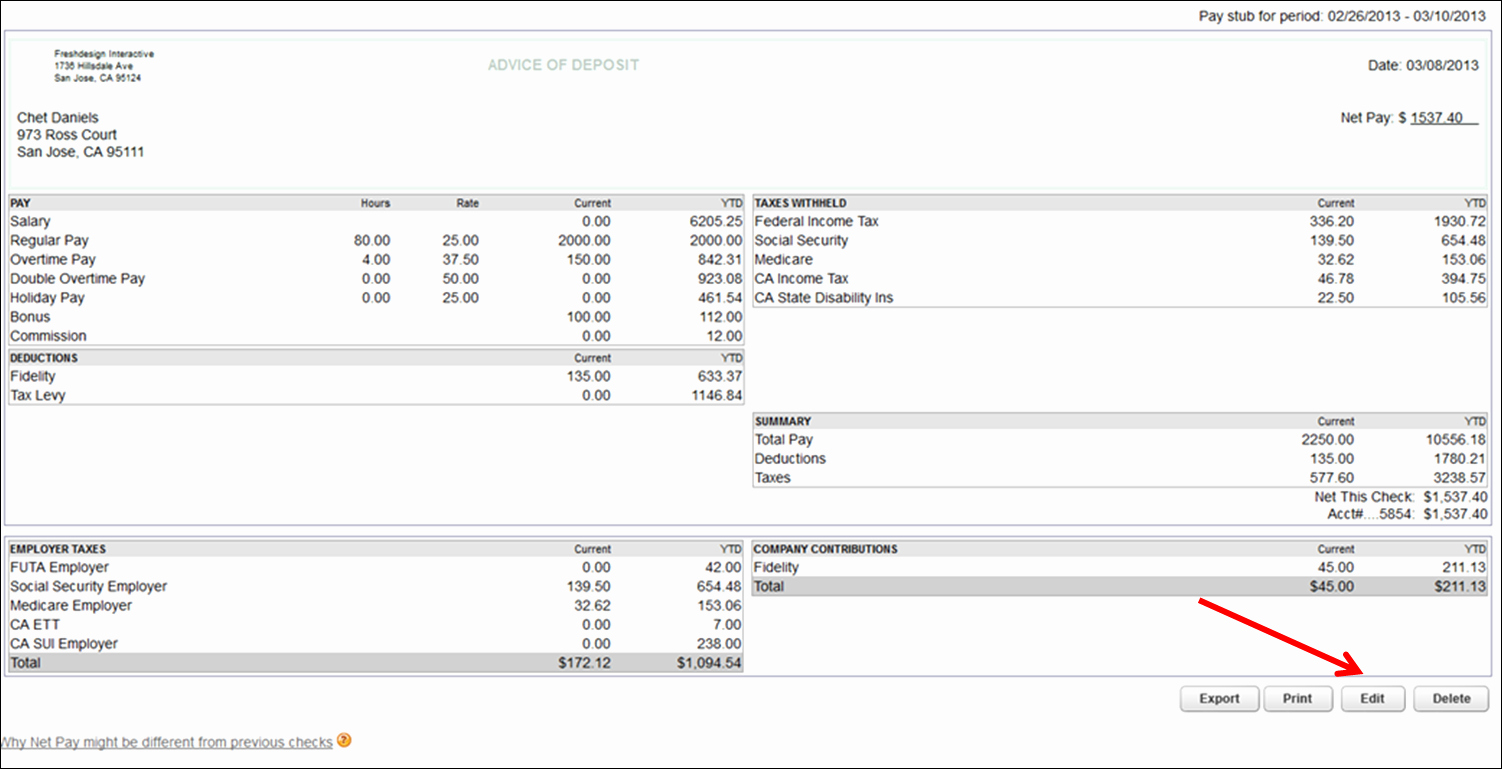 Quickbooks Pay Stub Template Unique Quickbooks Pay Stub Template – Emmamcintyrephotography