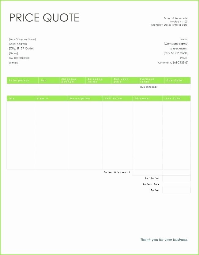 Quote Template Google Docs Beautiful Fer Template Mercial Property Purchase Letter Price