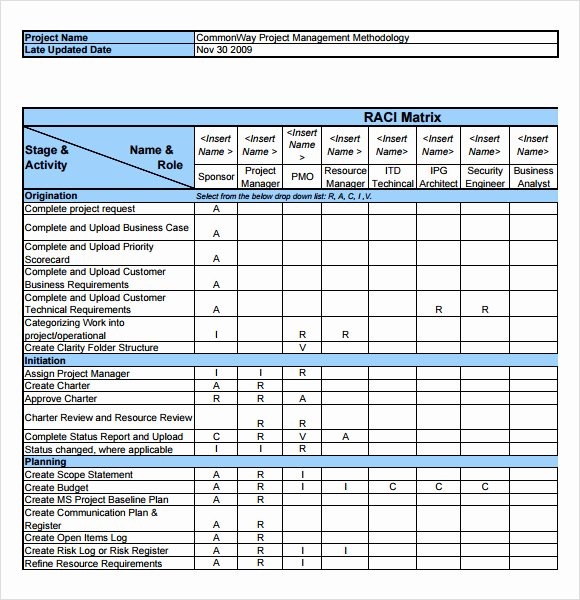 Raci Matrix Template Excel Unique Sample Raci Chart 7 Free Documents In Pdf Word Excel