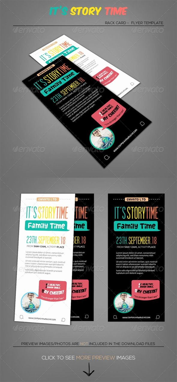 Rack Card Template Indesign Inspirational Little Talks Story Time Rack Card Template