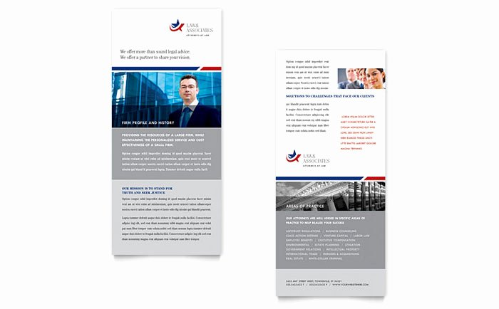 Rack Card Template Indesign Lovely Legal & Government Services Rack Card Template Design