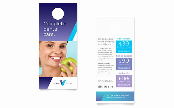 Rack Card Template Word Best Of Dentist Rack Card Template Design