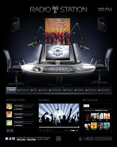 Radio Station Website Template Awesome Radio Station Website Template HTML5 Templates