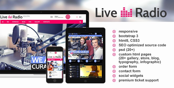 Radio Station Website Template Awesome tonytemplates