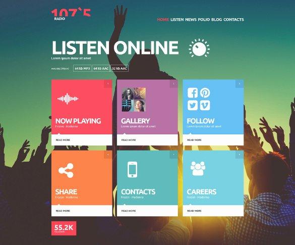 Radio Station Website Template Beautiful 29 Radio Station Website themes & Templates