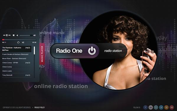 Radio Station Website Template Beautiful Radio E Radio Station HTML5 Template On Behance