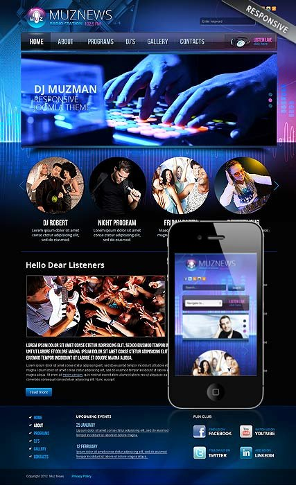 Radio Station Website Template Best Of Radio Station V3 0 Joomla Template Id From
