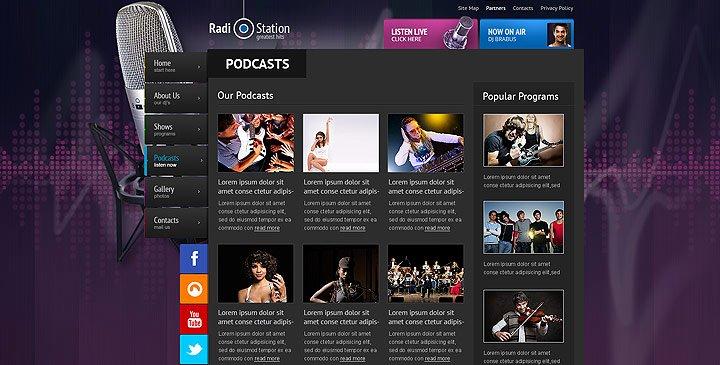 Radio Station Website Template Elegant Radio Template Line Radio Station Website Template