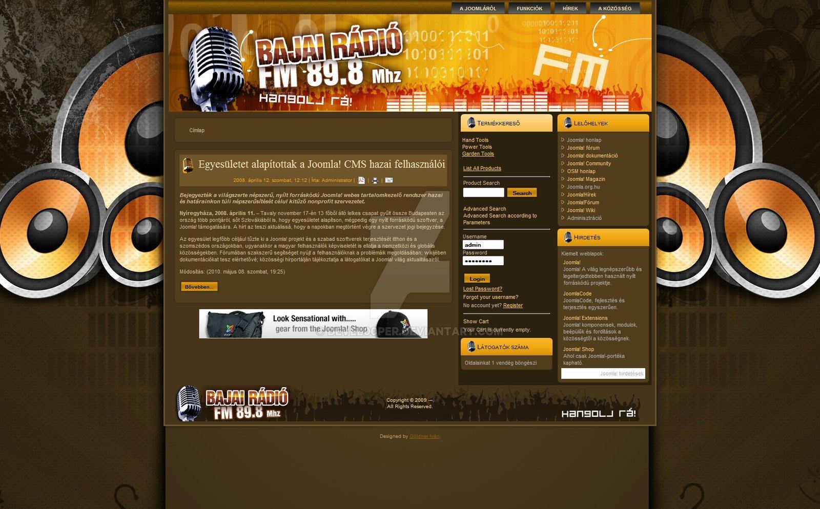 Radio Station Website Template Fresh Joomla Web Template Radio St by Devel00per On Deviantart