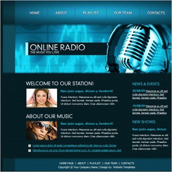 Radio Station Website Template Inspirational 26 Radio Station Website themes & Templates