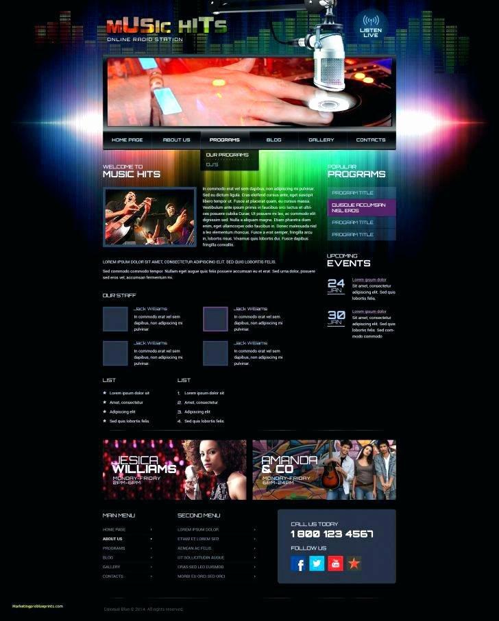 Radio Station Website Template Inspirational Fm Radio Website Templates Free Station – Btcromaniafo