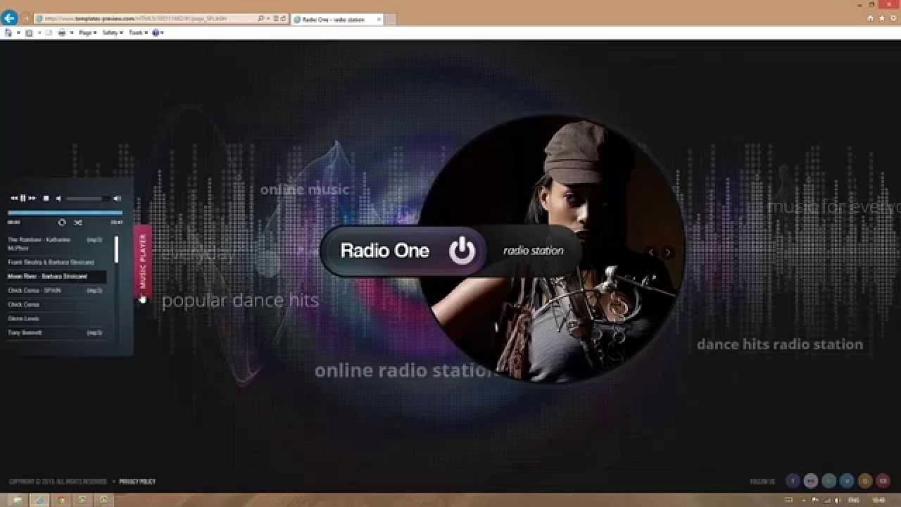 Radio Station Website Template Luxury Radio Station HTML5 Template