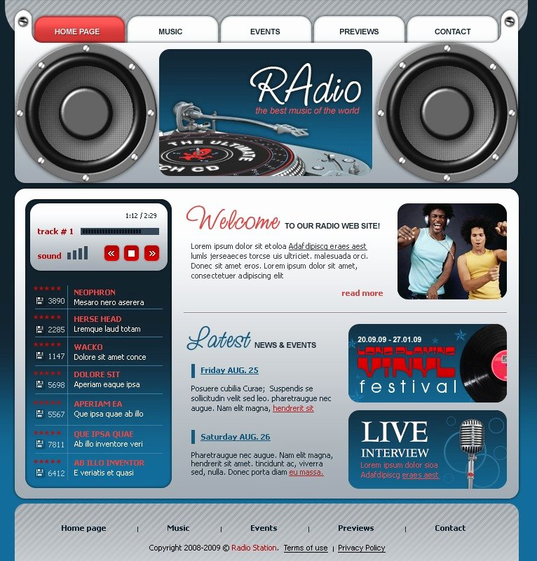 Radio Station Website Template New Modèle Flash Pour Site D Une Station Radio