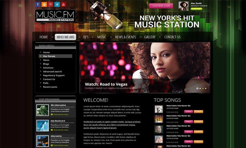 Radio Station Website Template Unique Joomla Radio Station Template Id