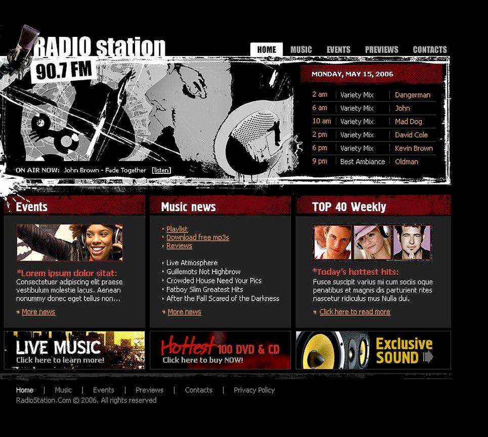 Radio Station Website Template Unique Radio Website Flash Template