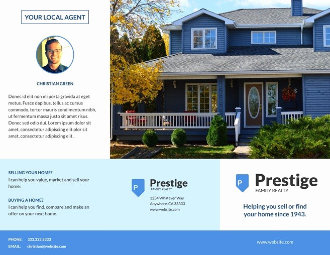 Real Estate Brochure Template Awesome 3 Free Real Estate Brochure Templates & Examples