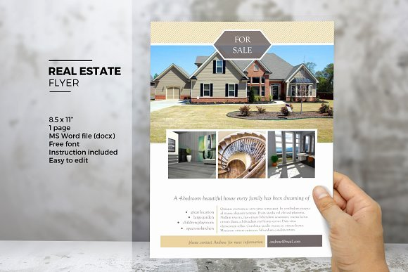 Real Estate Brochure Template Awesome Ms Word Real Estate Flyer Template Flyer Templates