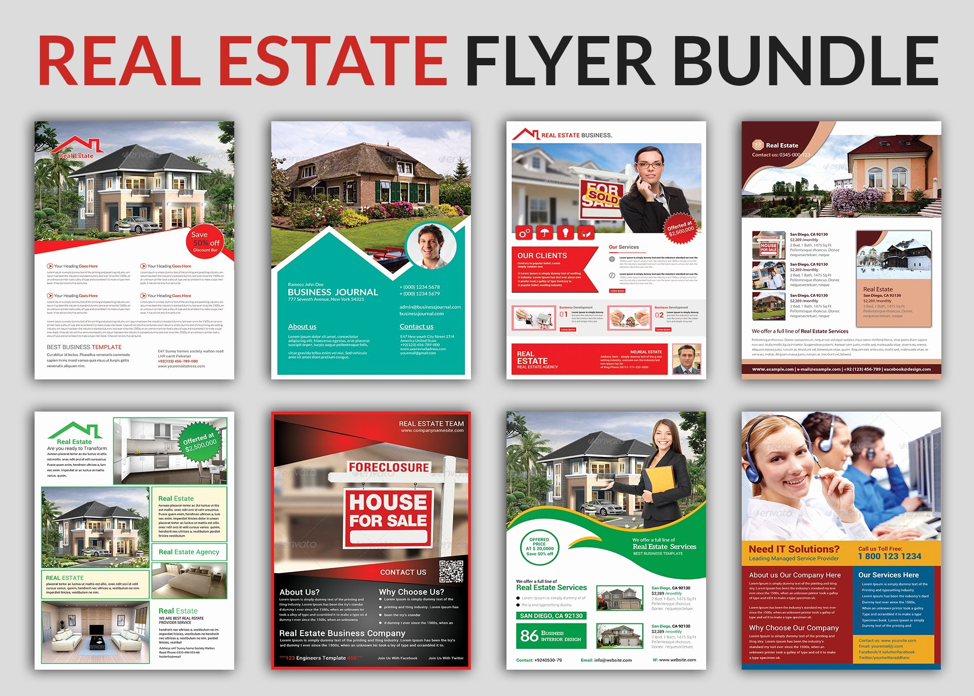 Real Estate Brochure Template Fresh Real Estate Flyer Bundle Templates Flyer Templates