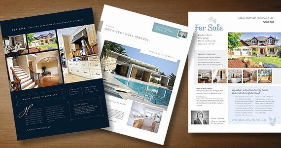 Real Estate Brochure Template Fresh Real Estate Flyer Templates to Market Your Property