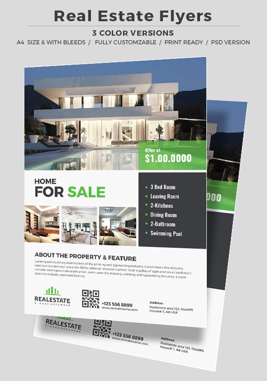 Real Estate Brochure Template Lovely 40 Professional Real Estate Flyer Templates