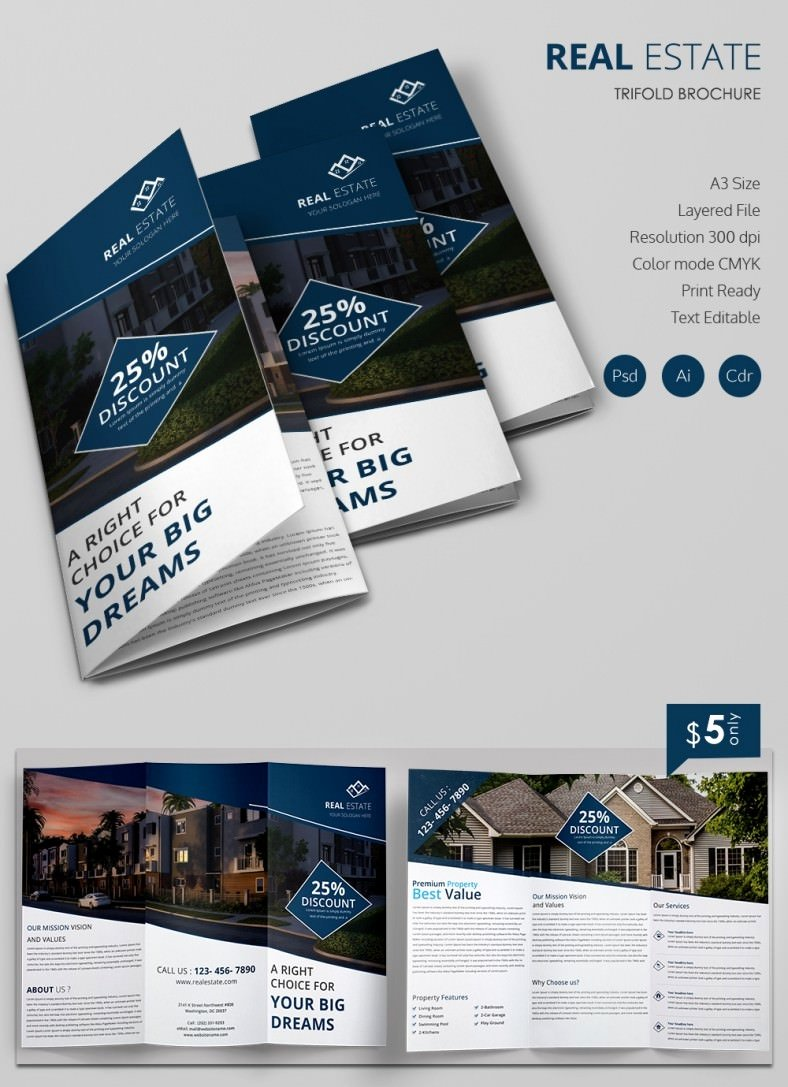 Real Estate Brochure Template Luxury 36 Psd Pany Brochure Templates & Designs